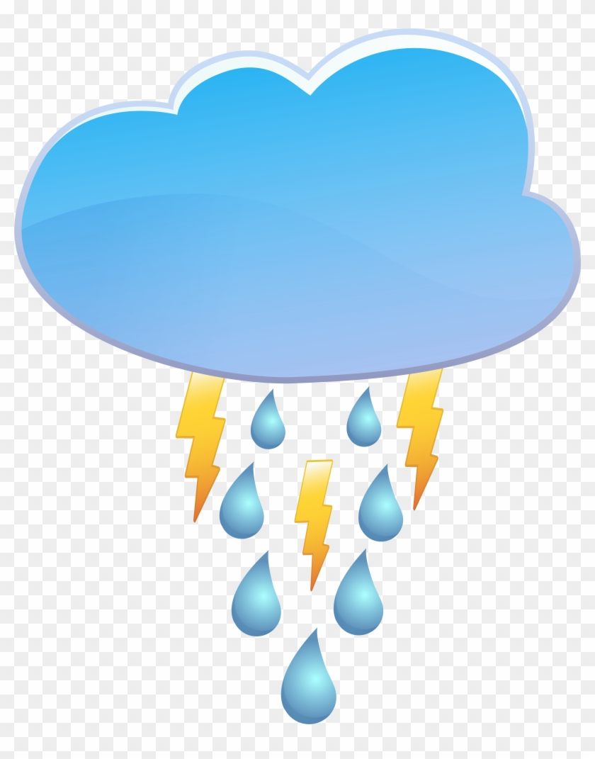 Cloud Rain And Thunder Weather Icon Png Clip Art - Cloud Rain And Thunder Weather Icon Png Clip Art #33655