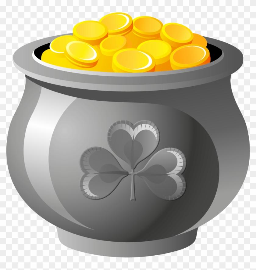 Pot Of Gold Clipart Tumundografico - St Patrick's Day Art #33684