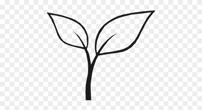 Grow - Black And White Plant Gardening Clip Art #33771