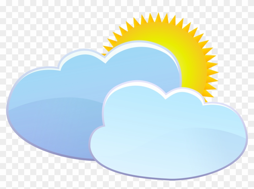 Clouds And Sun Weather Icon Png Clip Art - Heart #33806