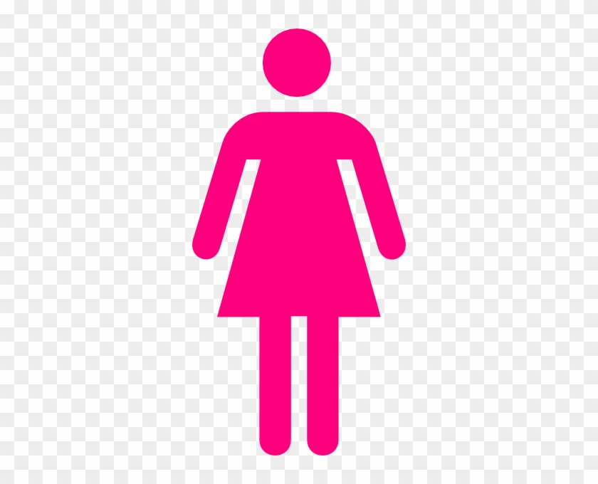 Pink Female Clip Art At Clker Com Vector Clip Art Online - Female Ambulant Toilet Sign #33818