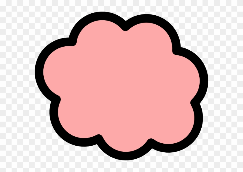 Peach Cloud Clip Art At Vector Clip Art - Cute Pink Cloud Png #33833