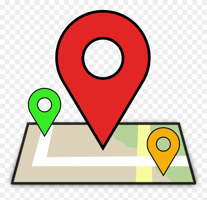 Computer Icons Map Clip Art - Location Clipart #33885
