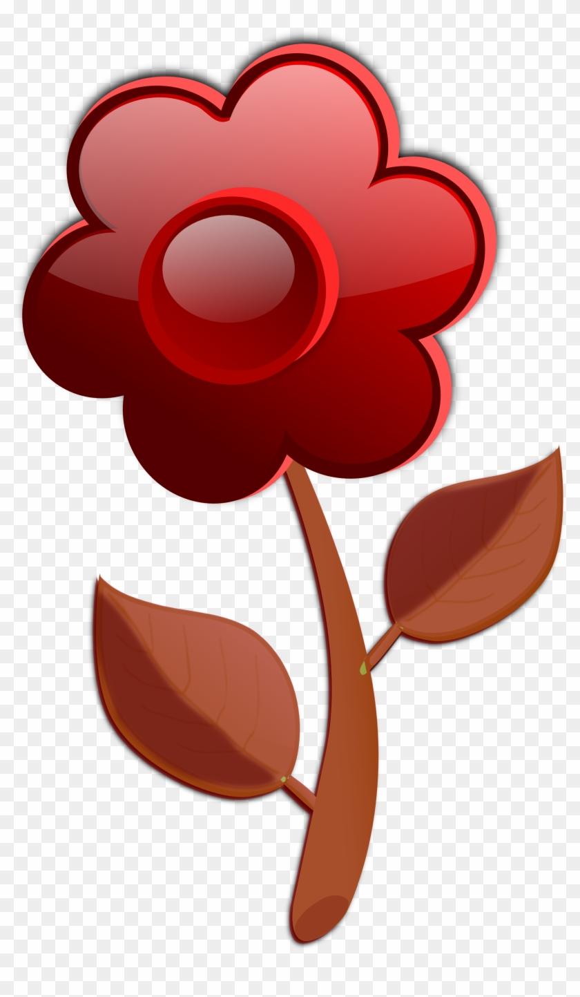 Fall Flower Clip Art - Cartoon Pink Flower #33950