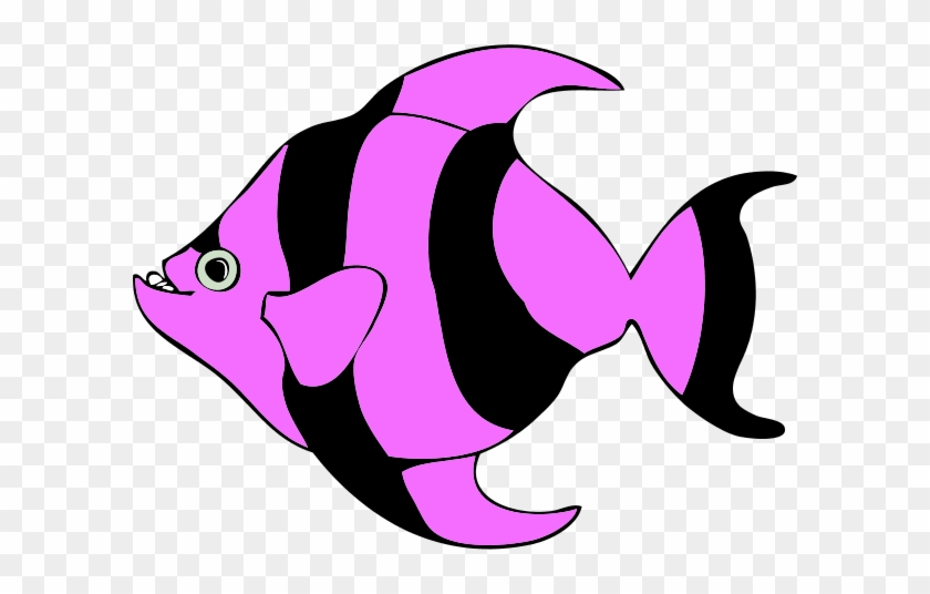 Free Tropical Fish Clipart Image - Purple Fish Clip Art #33972