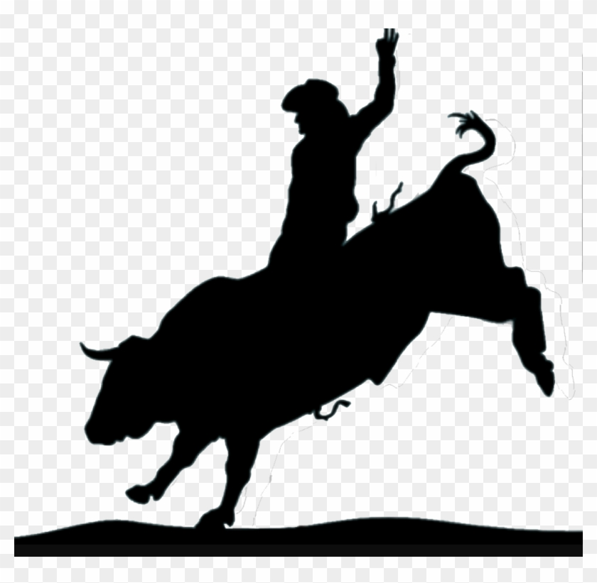 """Bull Rider €"""" Your Way Custom Decals And Tees - Bull Rider Silhouette #33989"""