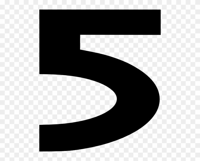 Bold Number Five Clip Art - Black 5 Clipart #33985