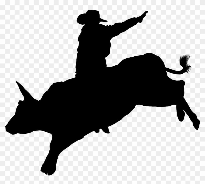 Filebullrider Silhouette - Bull Riding Clip Art #33996