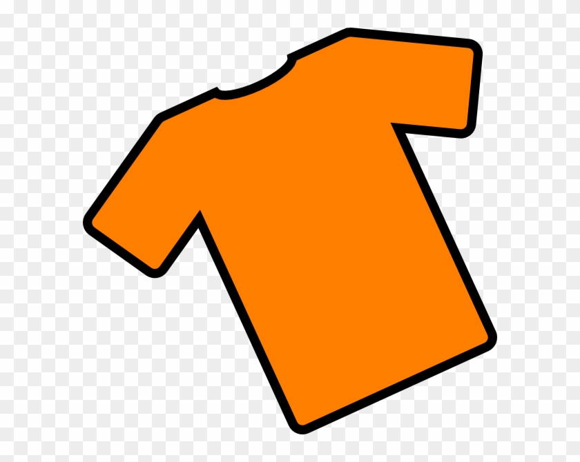 Download - Orange T Shirt Clip Art #34004