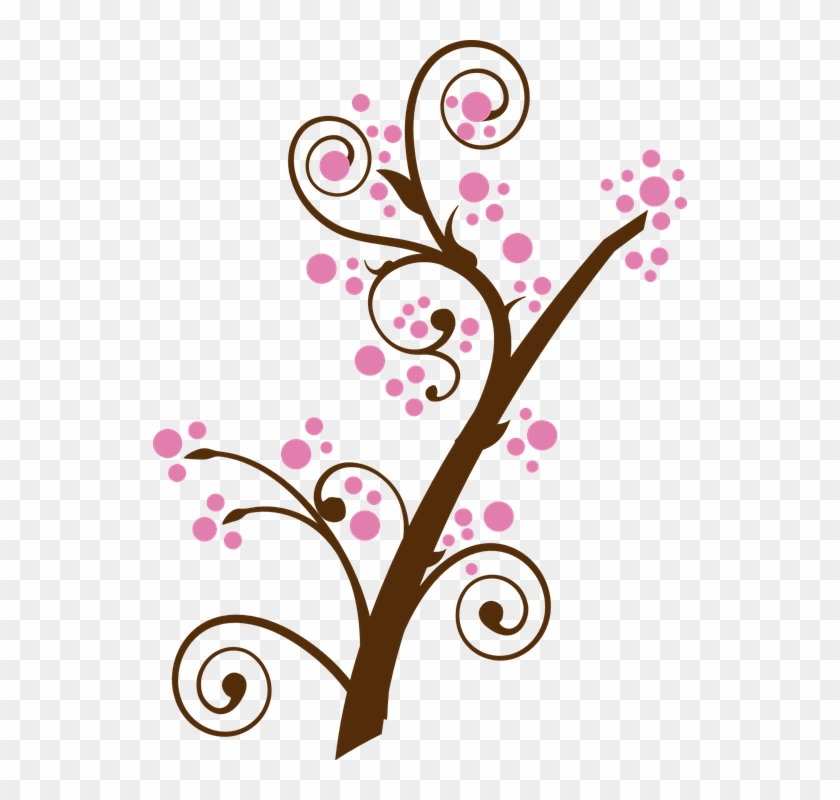 Floral Twig Branch Tree Pink Cherry Blossom - Happy Valentines Day Sister #34014