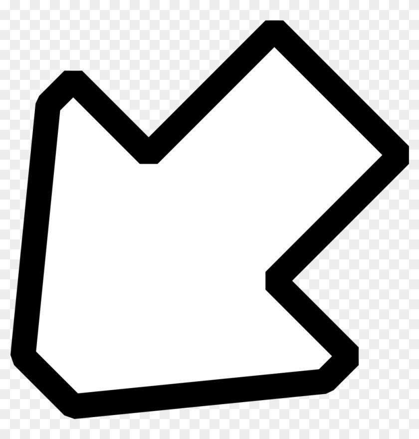 Left Down Outline Arrow Clip Art At Clker Com Vector - Arrow Clip Art #34030