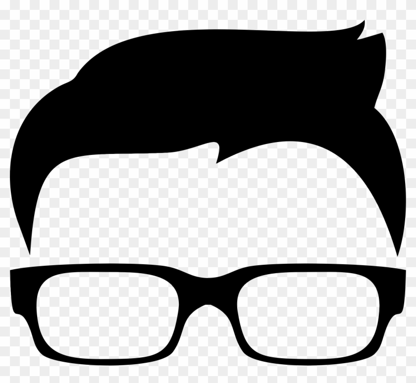 Hipster Boy Silhouette Icon Icons Png - Boy With Glasses Clip Art #34044