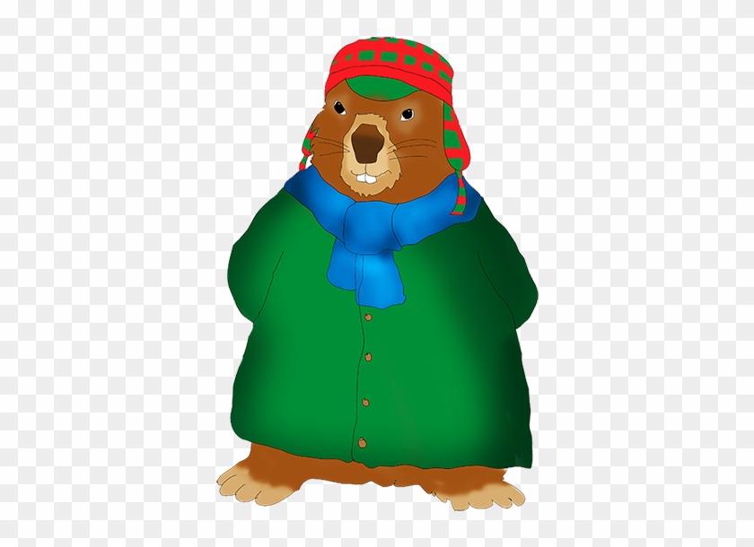 Winterdressed Groundhog Clip Art - Clip Art #34053