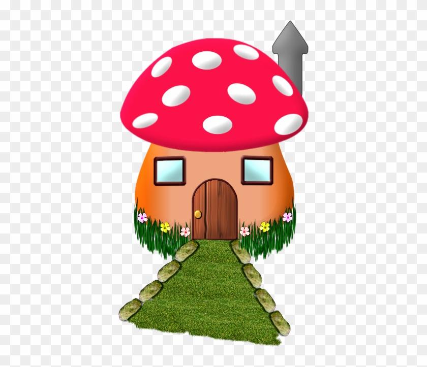 Champign Maison E Etc - Red Mushroom House Cartoon #34109