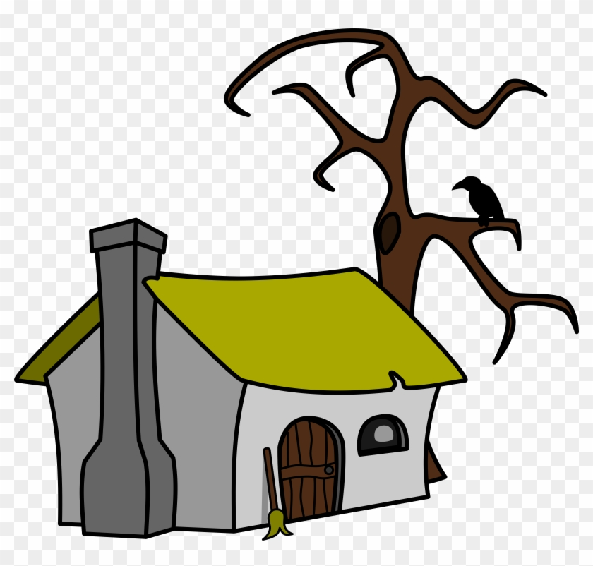 Free Witch& - Cottage Clip Art #34110