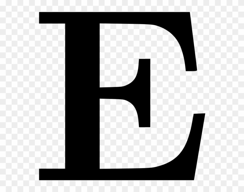 Letter Clipart - Letter E Png #34125