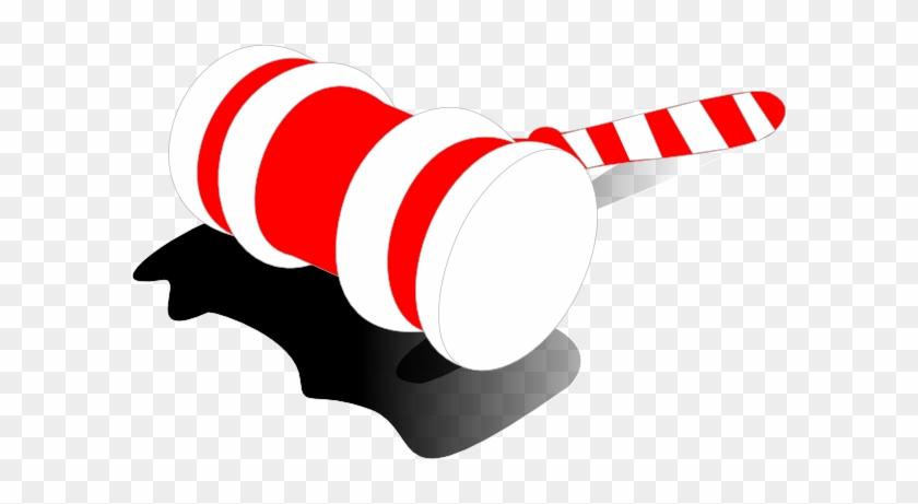 Candy Cane Gavel Clip Art - Christmas Auction Clipart #34146