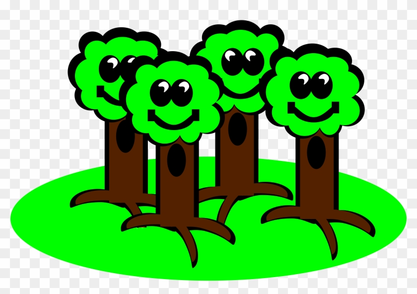 Big Image - Group Of Trees Clipart #34225