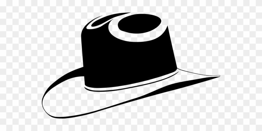 Cowboy Hat Black Cowboy Hat Western Wild W - Black Cowboy Hat Clip Art #34259