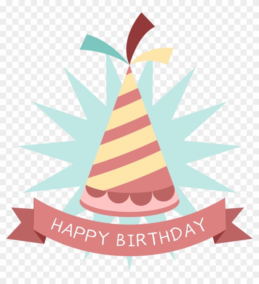 Birthday Party Hat Sticker Clip Art - Birthday Cap Sticker Free Download #34268