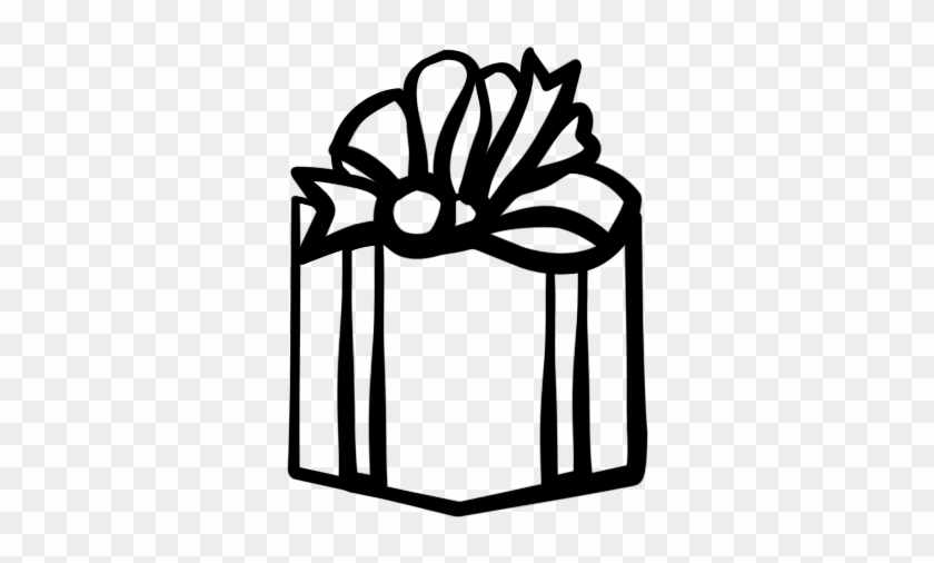 Present Black And White T Clipart Black And White - Gift Box Black And White #34356