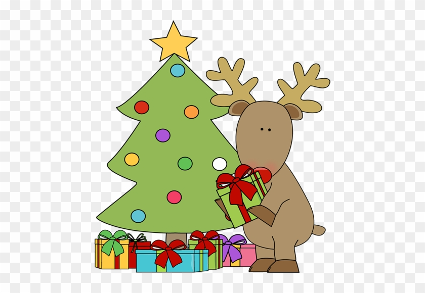Christmas Tree With Presents Clip Art - Christmas Tree With Presents Clip Art #34456