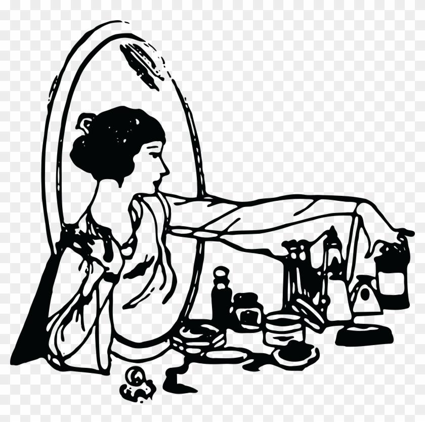 - Ai, - Eps, - Svg, - Free Clipart Of A Retro - Black And White Cosmetics #34466