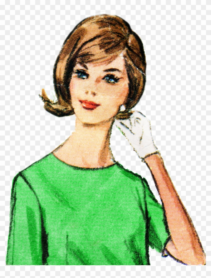 Free Retro Lady Clip Art - Kitchen #34474