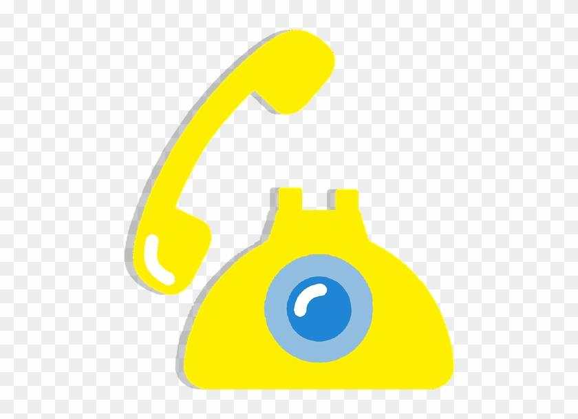 Telephone Old Retro Clipart Sticker Vector Yellow - Graphic Design #34481
