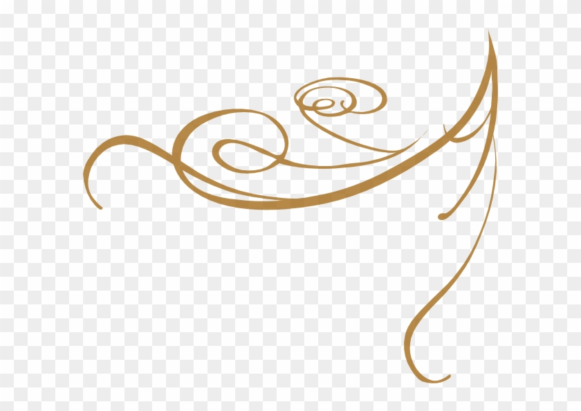 Gold Scrollwork Cliparts - Design Wedding Invitation Png #34512