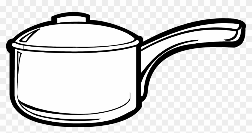 Black - Cooking Pot Clip Art #34543