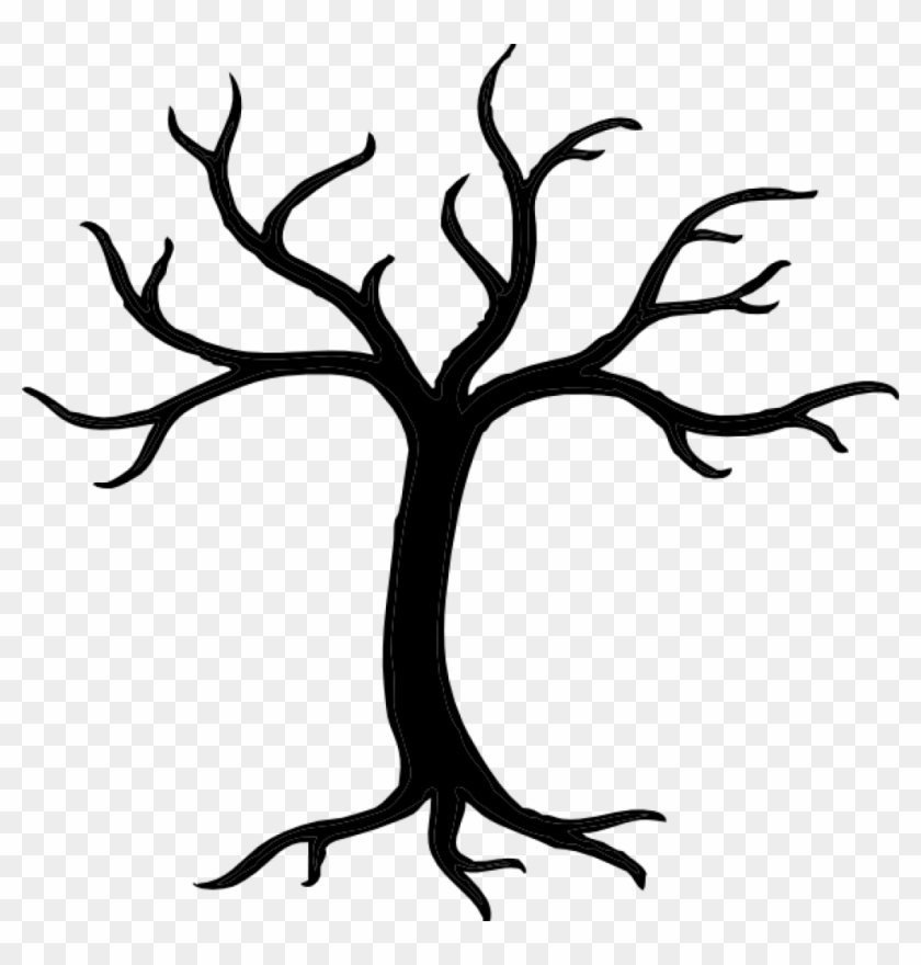Tree Clipart Black And White Bare Tree Clipart Black - Bare Tree Clip Art #34569