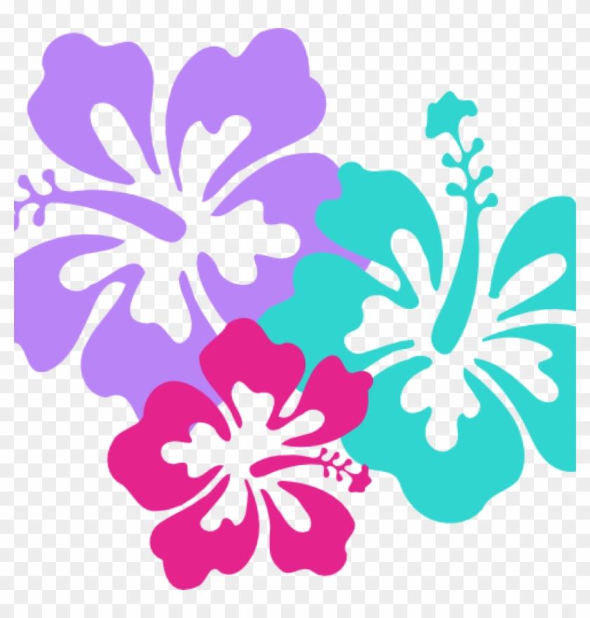 Free Hawaiian Clip Art Hawaiian Clip Art Borders Clipart - Hawaii Flower #34661