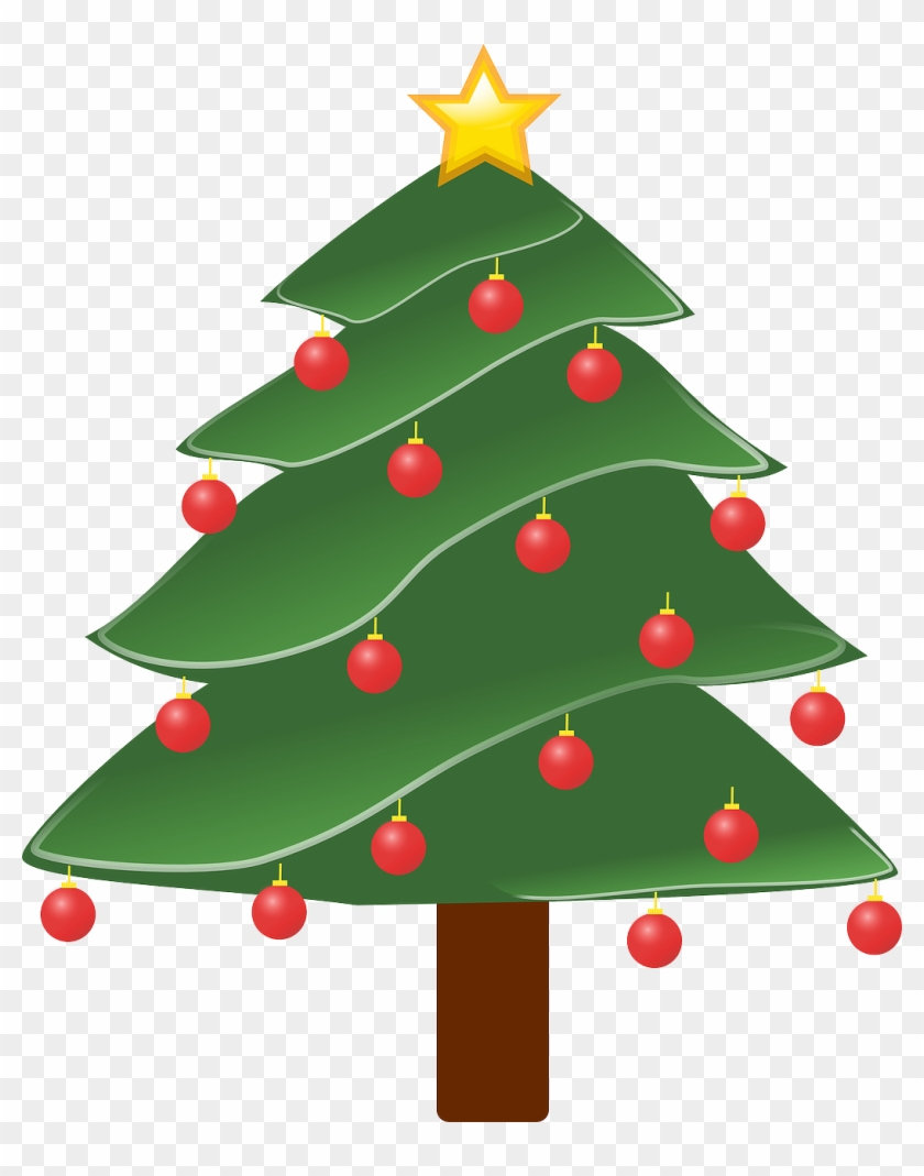 Lightly Decorated Evergreen 1 Christmas Xmas Tree Peace - Pine Tree Clip Art #34664