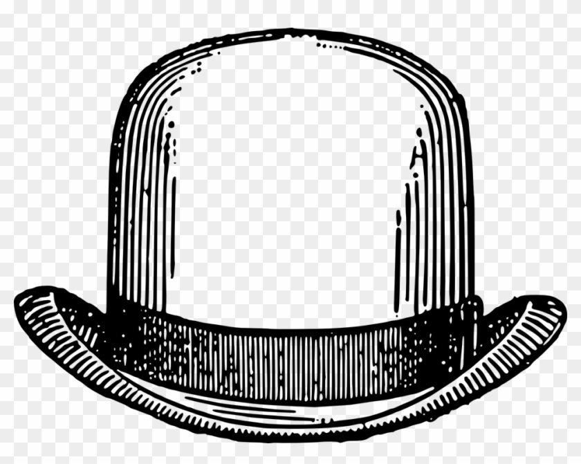 Bowler Hat Vintage Retro Man Fashion Male - Bowler Hat Clip Art #34662