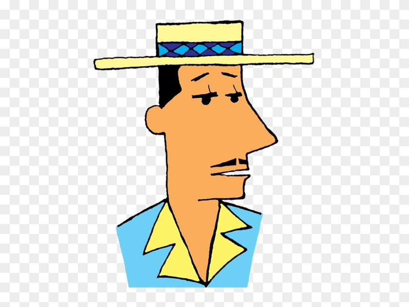 Man In Hat - Man With A Hat Clipart #34666