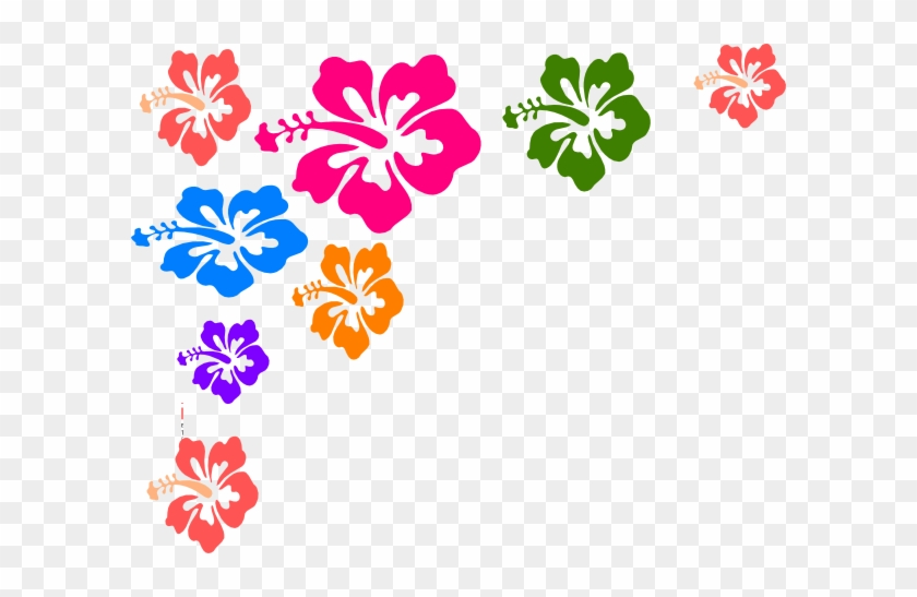 Hawaiian Flower Border Clip Art Free Clipart Images - Color Flower Vector Png #34670