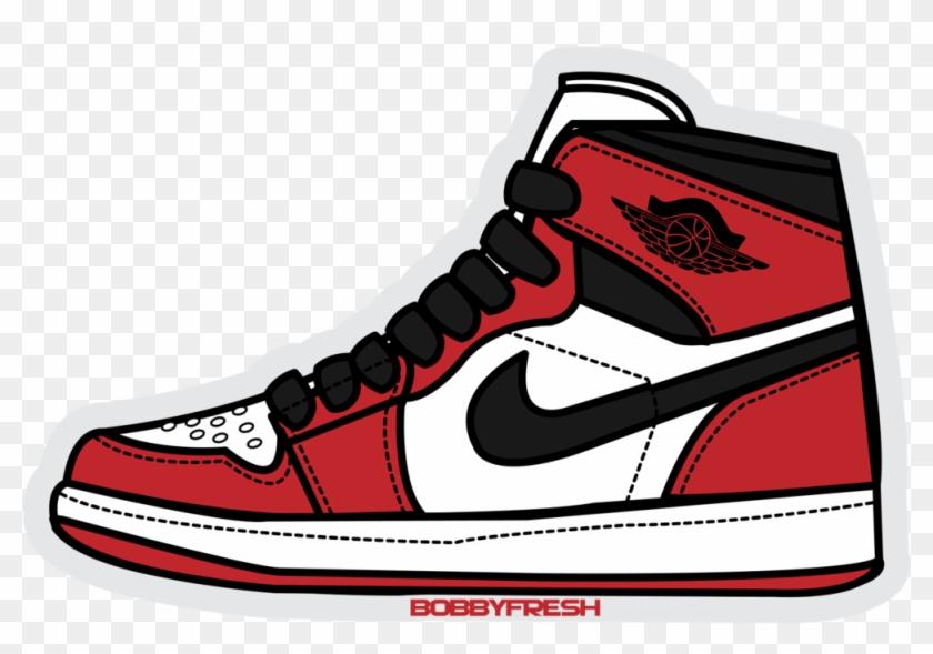 Jordan Retro 1 Og High Sticker Bobby Fresh - Air Jordan 1 Sticker #34702