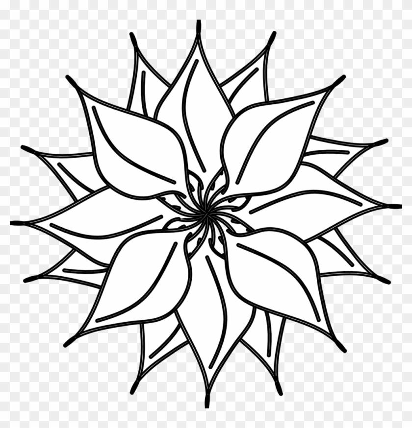 Best Flower Clipart Black And White - Flower White And Black #34705