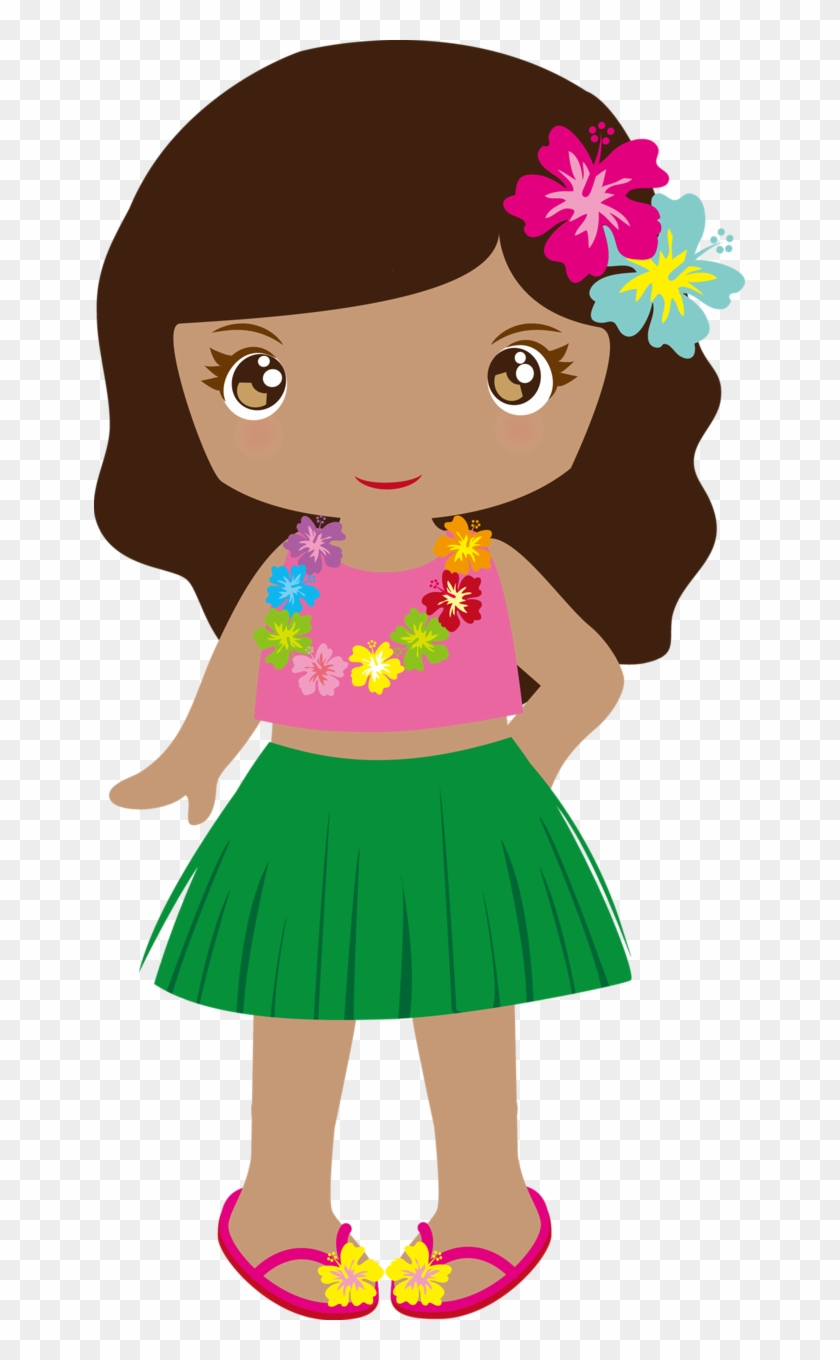 Hawaiian Aloha Tropical - Hawaiian Girl Png #34706