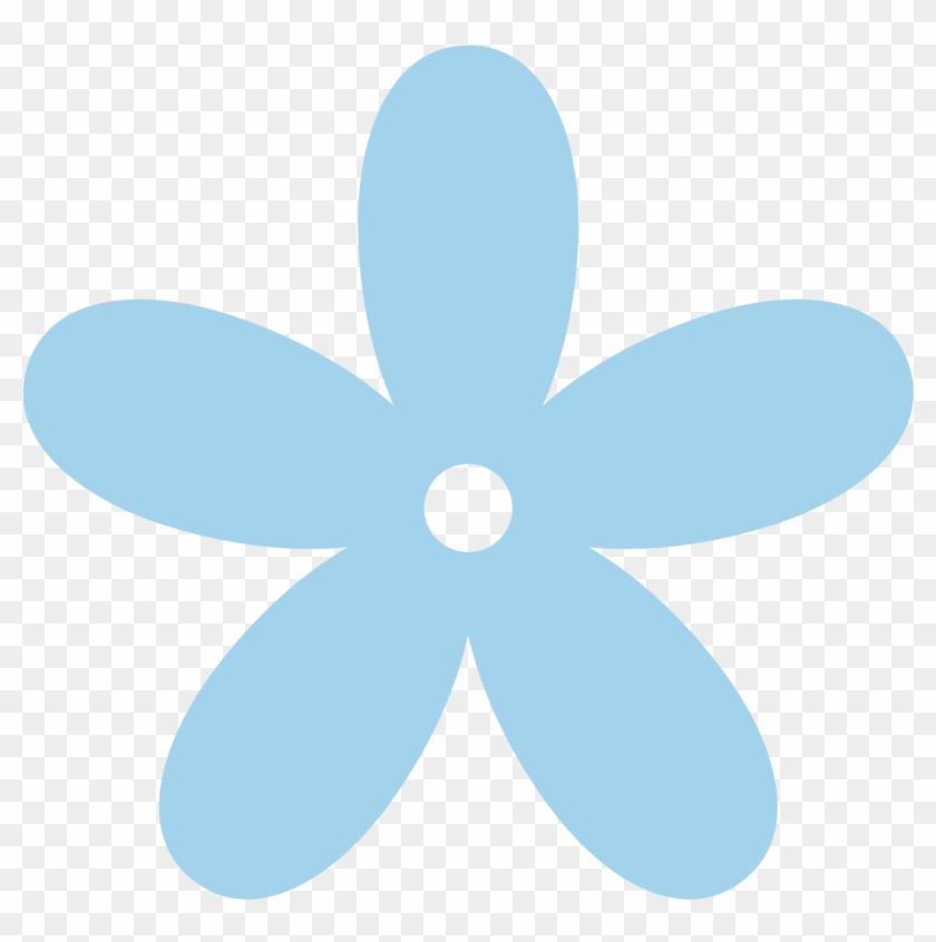 Light Blue Flower Clipart - Pink Flower Clipart Transparent Background #34708