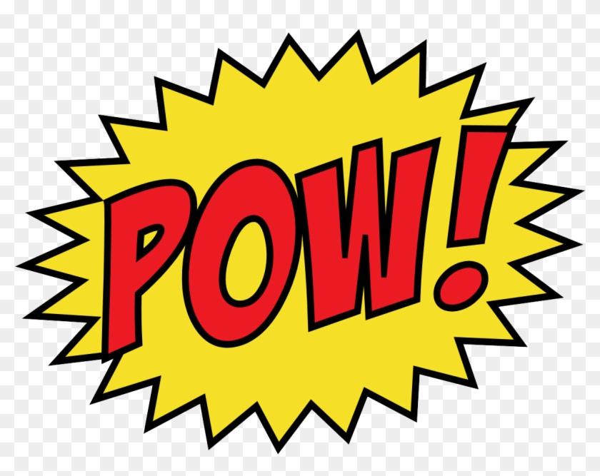Justice League Retro Clipart - Pow Png #34750