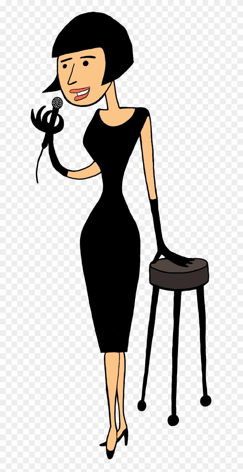 Singer Singer, Retro Woman - Singer Cartoon Png #34754