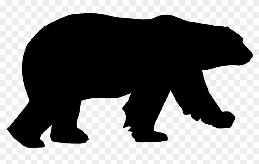 Clip Art - Polar Bear Silhouette Png #34763