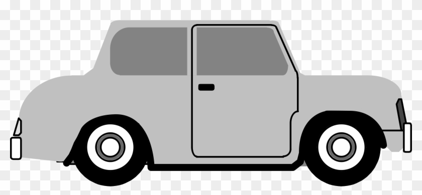 Generic Retro Car Side View Png Clipart - Old Car Cartoon Side View #34765
