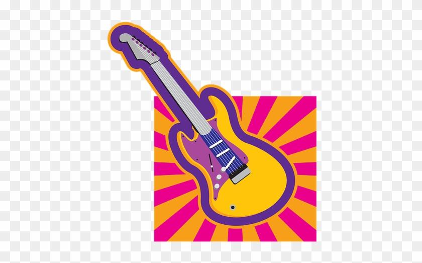 Clipart Retro Guitar Classic People 50s 40s - Guitar #34781