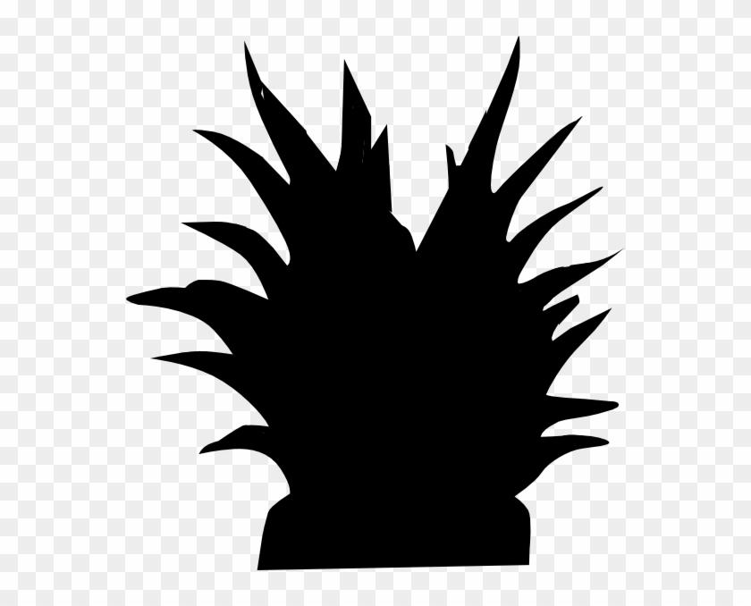 Plant Silhouette Svg Clip Arts 558 X 598 Px - Silueta De Una Planta #34785