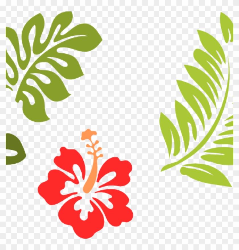 Hawaiian Clip Art Hawaiian Stencils Free 24 Clip Art - Hibiscus Clip Art #34792