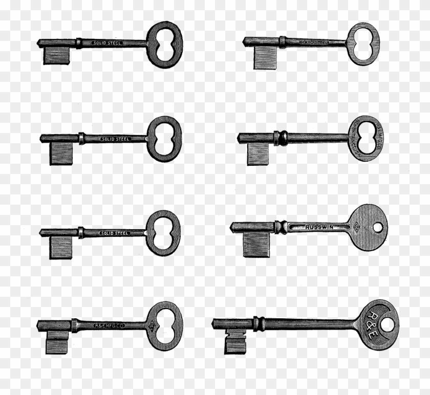 Retro Clipart Key - Printing #34802
