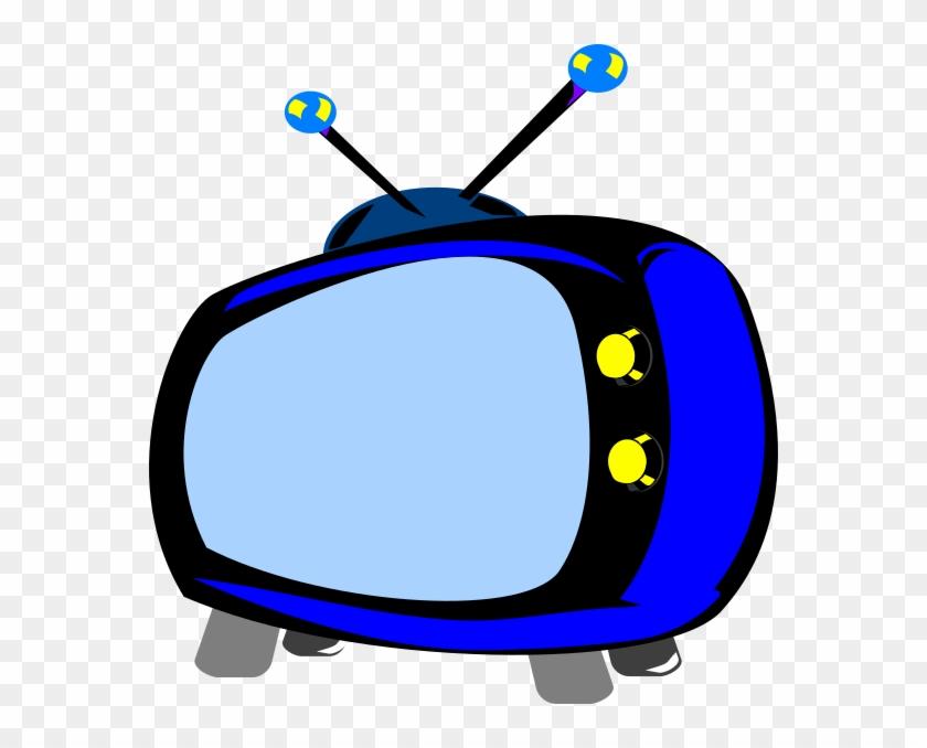 Blue Retro Tv Clip Art At Clker - Color #34808